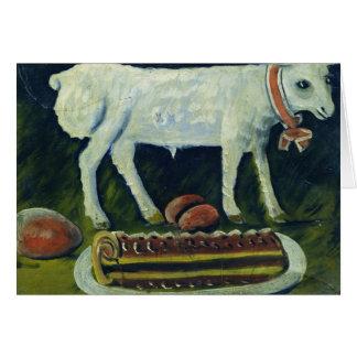 A paschal lamb, 1914 greeting card