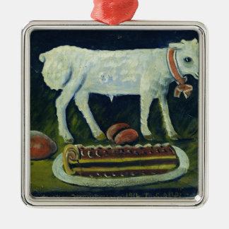 A paschal lamb, 1914 Silver-Colored square decoration