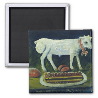 A paschal lamb, 1914 square magnet