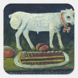 A paschal lamb, 1914 square sticker