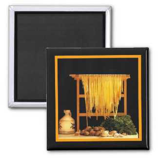 A Pasta Feast Square Magnet