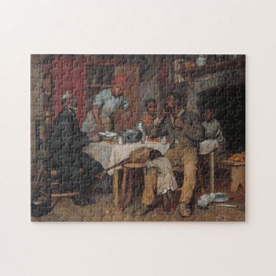 A Pastoral Visit Jigsaw Puzzle
