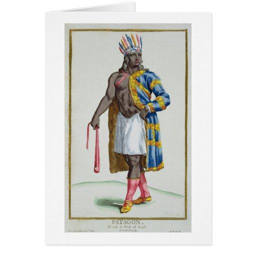 A Patagonian Man, 1780 (coloured engraving) Card