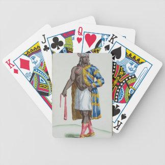 A Patagonian Man 1780 coloured engraving Poker Cards