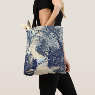 A Path on the Coast Japanese style Tote Bag