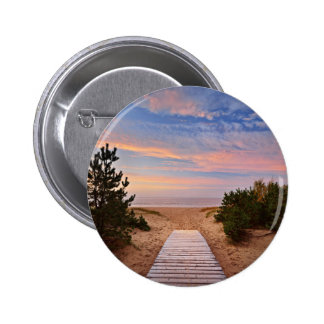 A Path Through The Sand Dunes And The Baltic Sea S 6 Cm Round Badge
