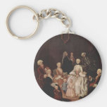 A Patrician Family by Pietro Longhi Keychains