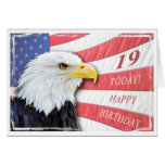 A patriotic 19th birthday card