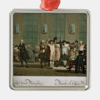A Patriot's Coffee House Silver-Colored Square Decoration
