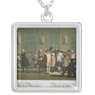 A Patriot's Coffee House Silver Plated Necklace