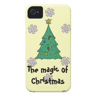 A pattern of snowflakes, The magic of Christmas iPhone 4 Cases