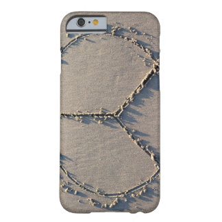 A peace sign drawn in the sand. barely there iPhone 6 case
