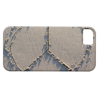 A peace sign drawn in the sand. case for the iPhone 5