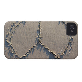 A peace sign drawn in the sand. iPhone 4 cover