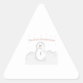 A Peaceful Wonderland Triangle Stickers
