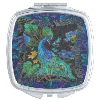 A Peacock Compact Mirror