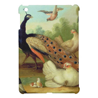 A Peacock, Doves, Chickens and a Jay in a Park iPad Mini Cover