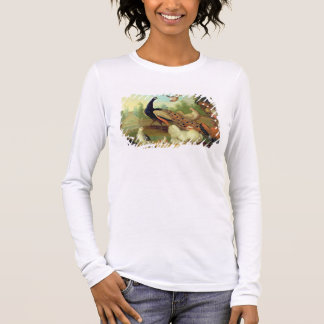 A Peacock, Doves, Chickens and a Jay in a Park Long Sleeve T-Shirt