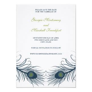 A Peacock Wedding Save The Date Card