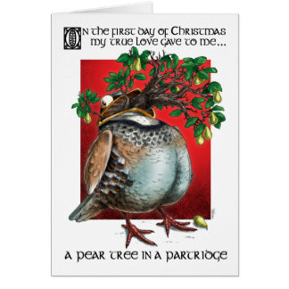 A Pear Tree in a Partridge Greeting Card