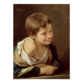 A Peasant Boy Leaning on a Sill, 1670-80 Poster