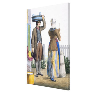 A Peasant Couple of Parmerend, North Holland, illu Canvas Print