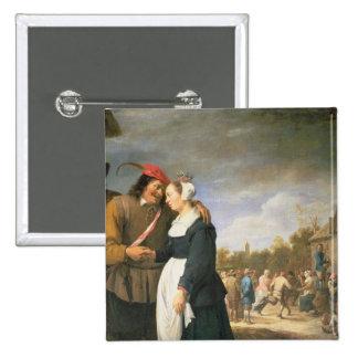 A Peasant Wedding, 1648 15 Cm Square Badge
