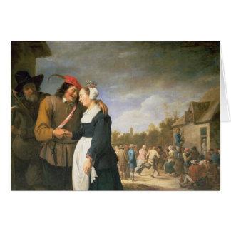 A Peasant Wedding, 1648 Card