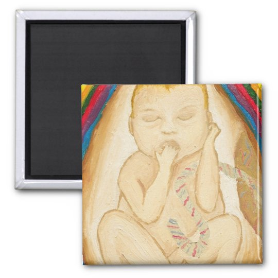 A Peek In The Womb Square Magnet