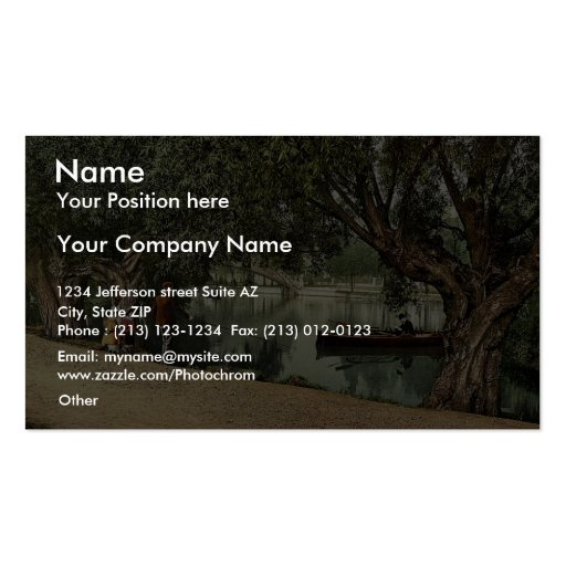 """A """"Peep"""" from the recreation grounds, Bedford, Eng Business Card Template"""