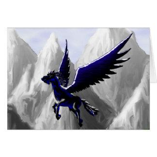 A Pegasus Flying Card