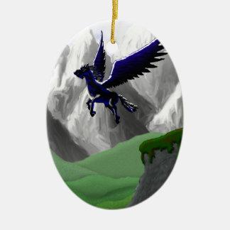 A Pegasus Flying Christmas Ornament