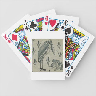 A Pelican and Frog in Conversation (w/c on paper) Bicycle Playing Cards