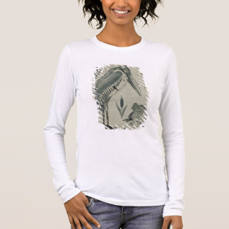 A Pelican and Frog in Conversation (w/c on paper) Long Sleeve T-Shirt