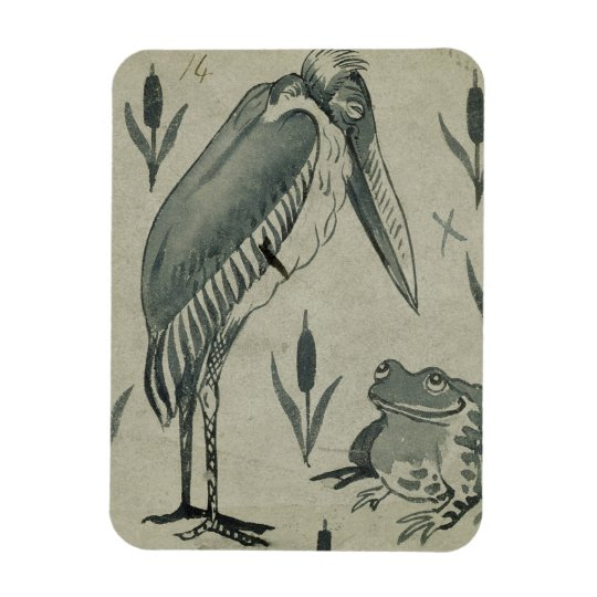 A Pelican and Frog in Conversation (w/c on