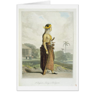 A Peng'anten Lanang or Bridegroom, plate 19 from V Greeting Card