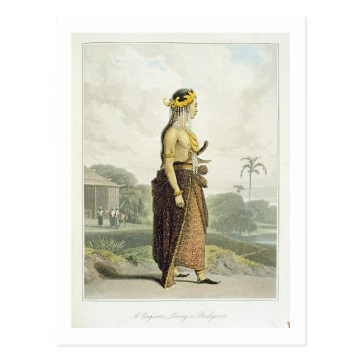 A Peng'anten Lanang or Bridegroom, plate 19 from V Post Cards