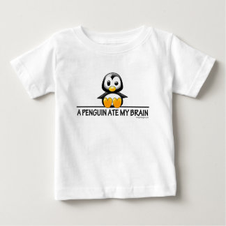 A Penguin Ate My Brain Baby T-Shirt
