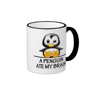 A Penguin Ate My Brain Ringer Mug