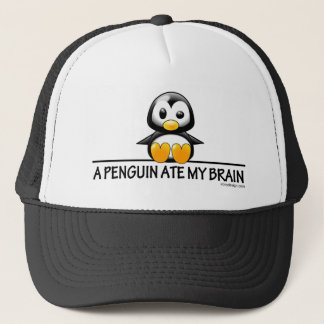 A Penguin Ate My Brain Trucker Hat