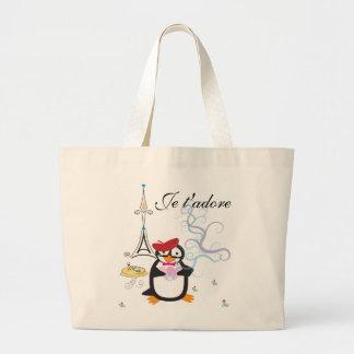 A Penguin in Paris Bag