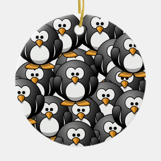 a penguin overload christmas ornament