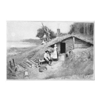 A Pennsylvania Cave-Dwelling Canvas Print
