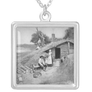 A Pennsylvania Cave-Dwelling Silver Plated Necklace