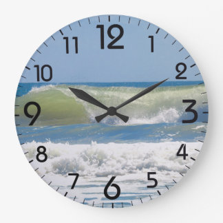 A perfect beach wave wall clocks