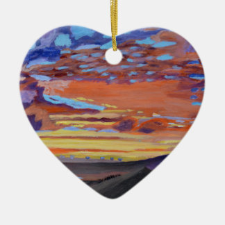 A perfect moment in time ceramic heart decoration