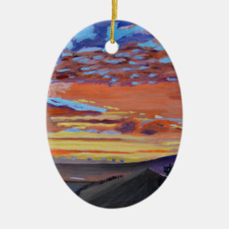 A perfect moment in time ceramic oval decoration