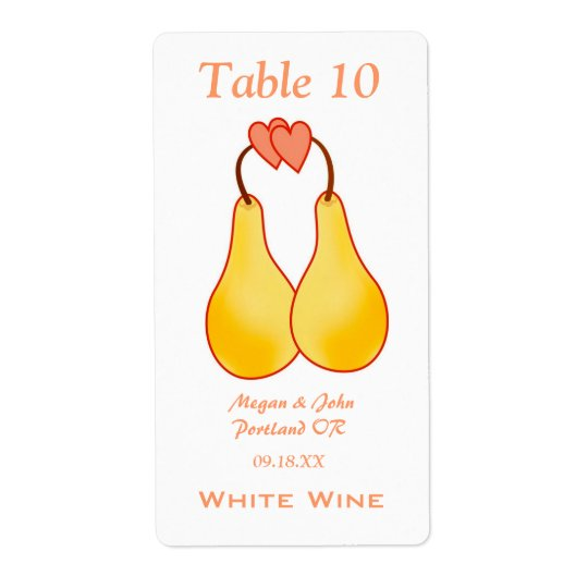 A Perfect Pair Wedding Wine Label