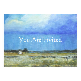 A Perfect Storm Abstract Art Landscape Painting 11 Cm X 16 Cm Invitation Card