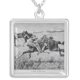 A Peril of the Plains Silver Plated Necklace